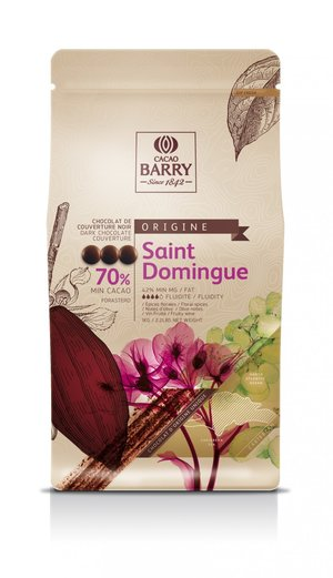Mörk choklad 70%, Saint Domingue, Cacao Barry, 1 kilo