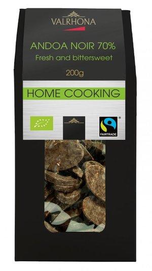 Mörk choklad Andoa Noir 70%, Valrhona, 200 g - Ekologisk & Fairtrade certifierad