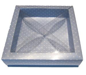 Pralinask dots ljusblå (ca 16 bitar)