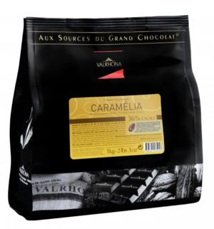 Ljus choklad Caramélia 36%, Valrhona, 1 kilo