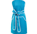 Förkläde, turkos - blå